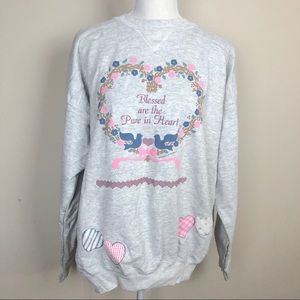 VINTAGE Blessed are the Pure in Heart Crew Sweater
